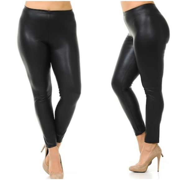 2c4c29f1ffa915 Pants | Plus Size Matte Black Vegan Leather Leggings | Poshmark